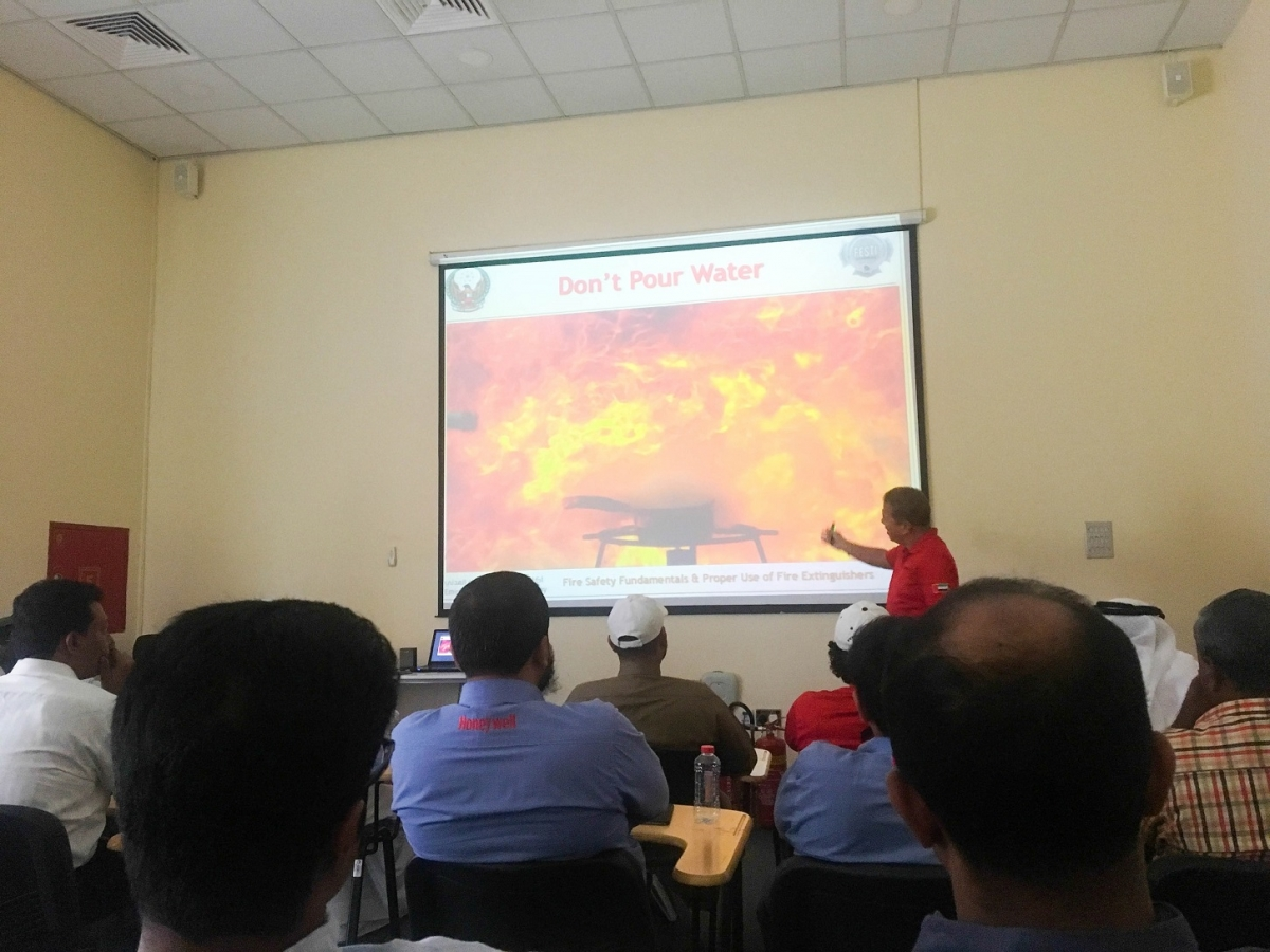 Dubai Civil Defense Fire Safety Training